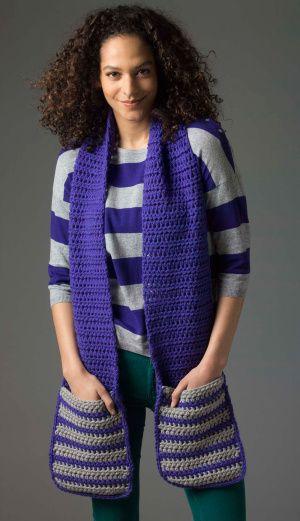 Level 2 Crocheted Scarf | crochet | Pinterest | Gehäkelten schal ...