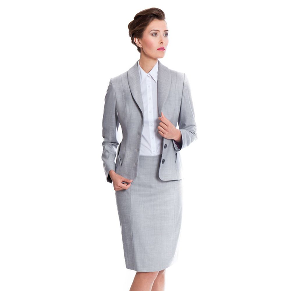 Ladies Business Suits | ... Skirt Suit by NOOSHIN – Grey Skirt ...