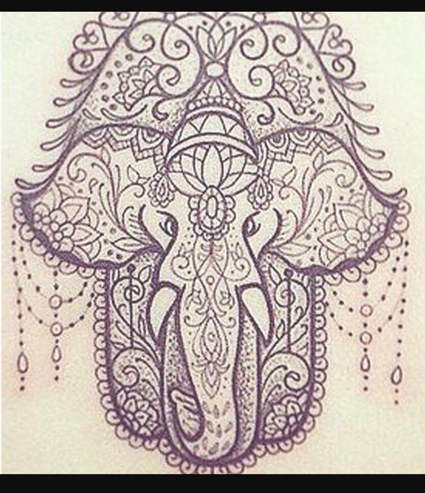 Elephant hamsa tattoos pinterest hamsa y elefantes for Hamsa elephant tattoo