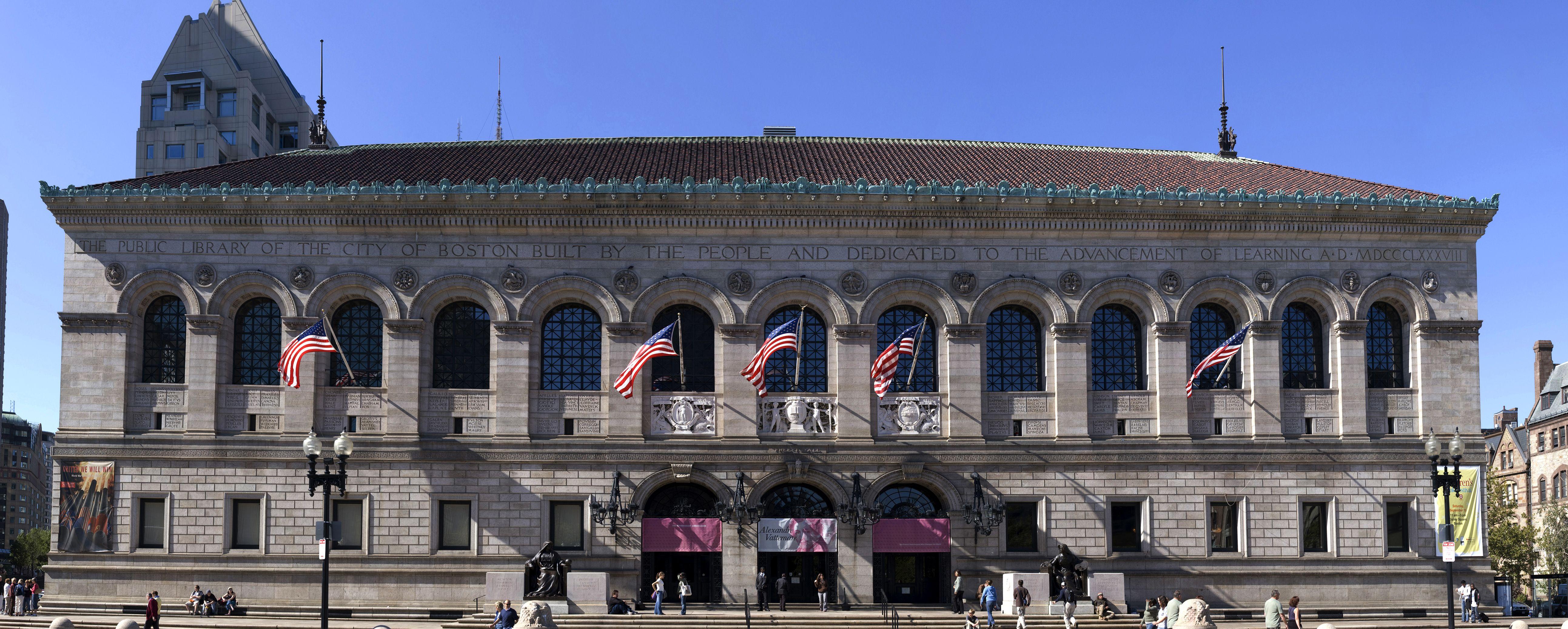 Boston Public Library Boston Massachusetts 1887 95 Mckim