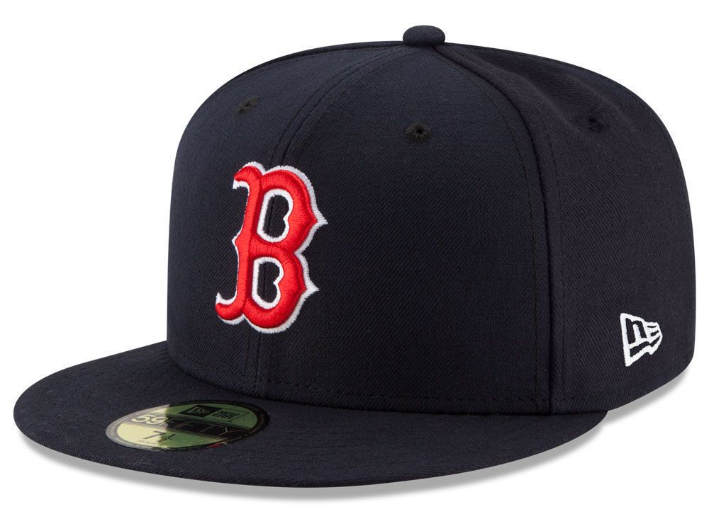 bbcc3bfd4 New Era Boston Red Sox GAME 59Fifty Fitted Hat (Navy) MLB Cap ...