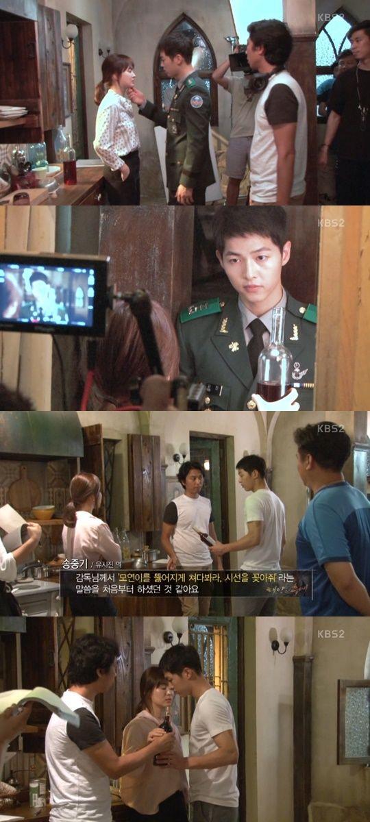 Behind the scene kissing scene drama korea