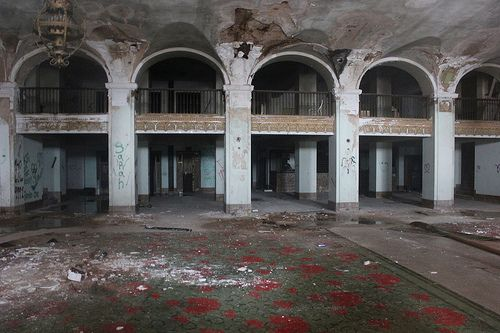 Baker Hotel Lobby Mineral Wells Texas It Is Hard To Believe But