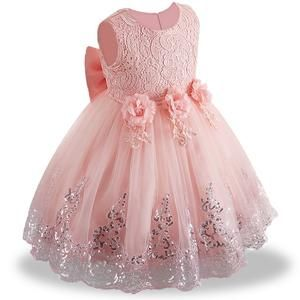 19d4ea4eef60 2018 summer infant Baby Girl Dress Lace white Baptism Dresses for Girls 1st  year birthday party wedding baby clothing