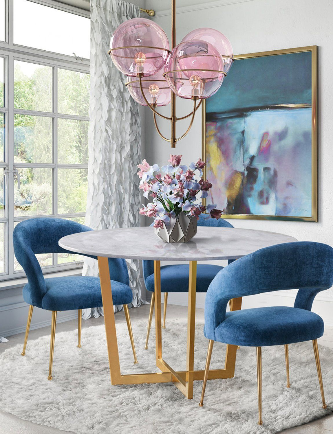 Racoon Dining Chair - blush