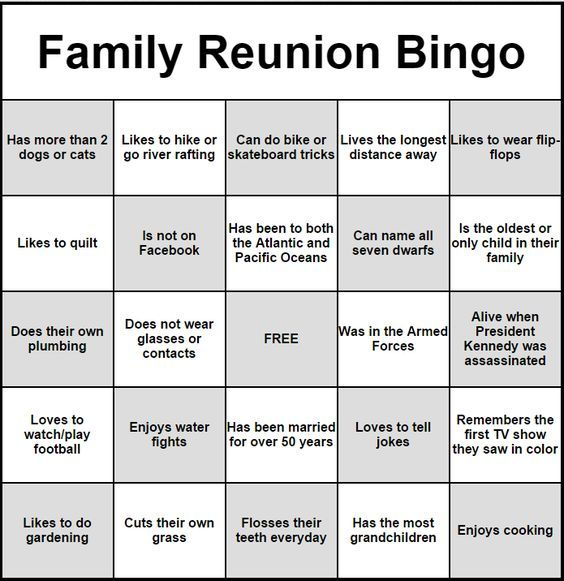 People Bingo Rules Cards Icebreaker Ideas Family