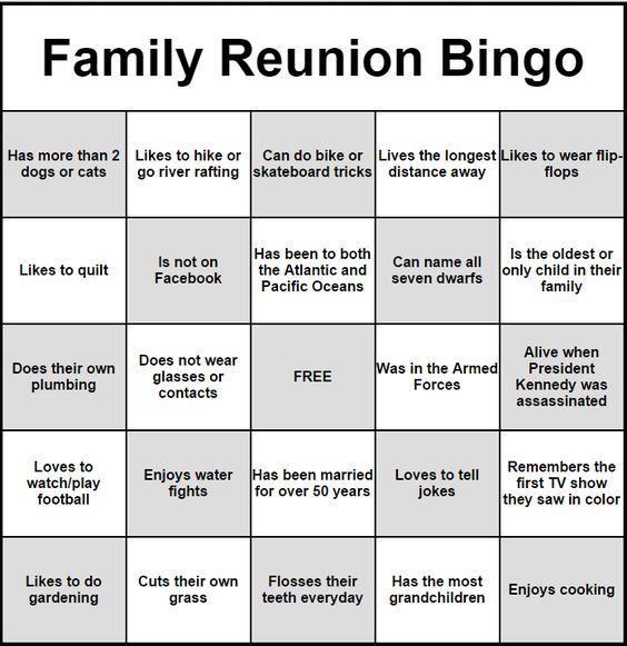 People Bingo Rules & Cards - Icebreaker Ideas | family