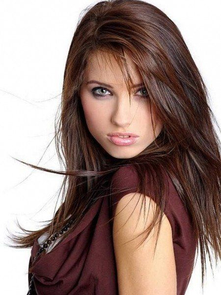 layered hairstyle with wispy side bangs images   Layered Haircuts For Long Hair With Side Bangs   Encouraged for you to ...
