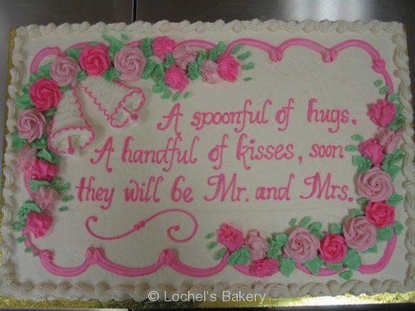 Bridal Shower Sheet Cake Decorating Ideas : Bridal shower cake ideas - Google Search Cake ideas ...
