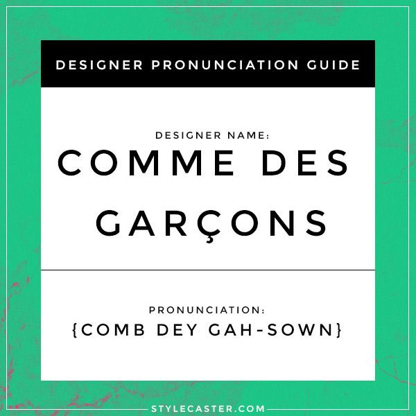 How To Properly Pronounce The Names Of 20 French Designers