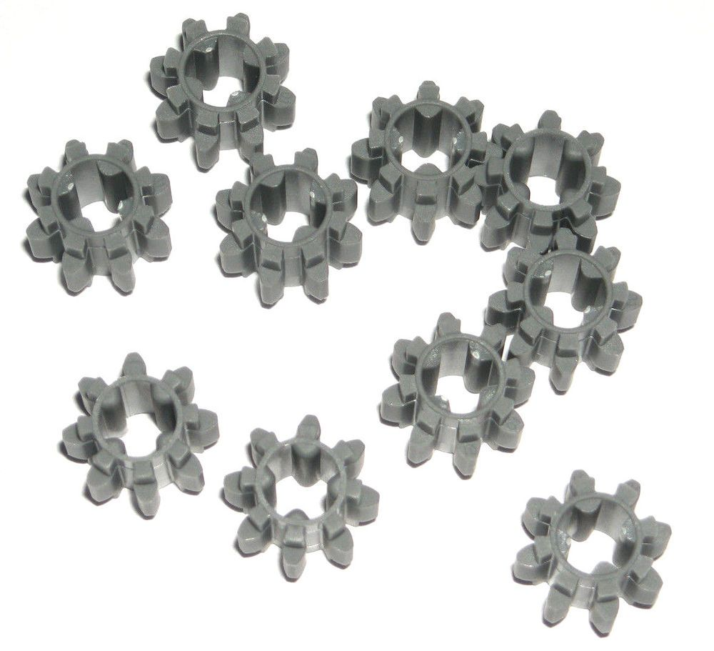 White new 10 LEGO Technic Gear 8 Tooth Type 1