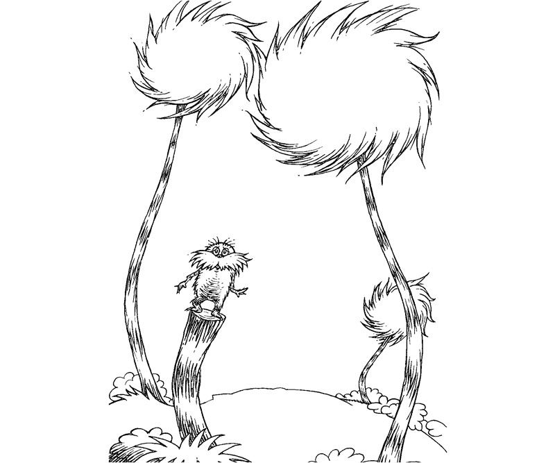 The Lorax Trees Coloring Pages Tree Coloring Page Lorax Trees Dr Seuss Coloring Pages