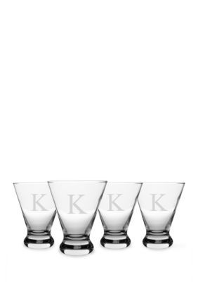 Cathys Concepts  PERSONALIZED COSMOPOLITAN COCKTAIL GLASSES-K-DS