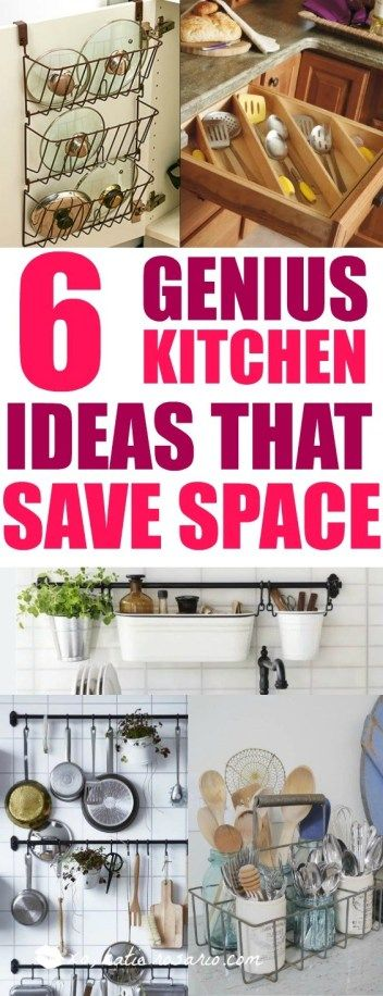 6 Small Kitchen Hacks for Storing and Organizing Tools - XO, Katie Rosario #organizingsmallkitchens