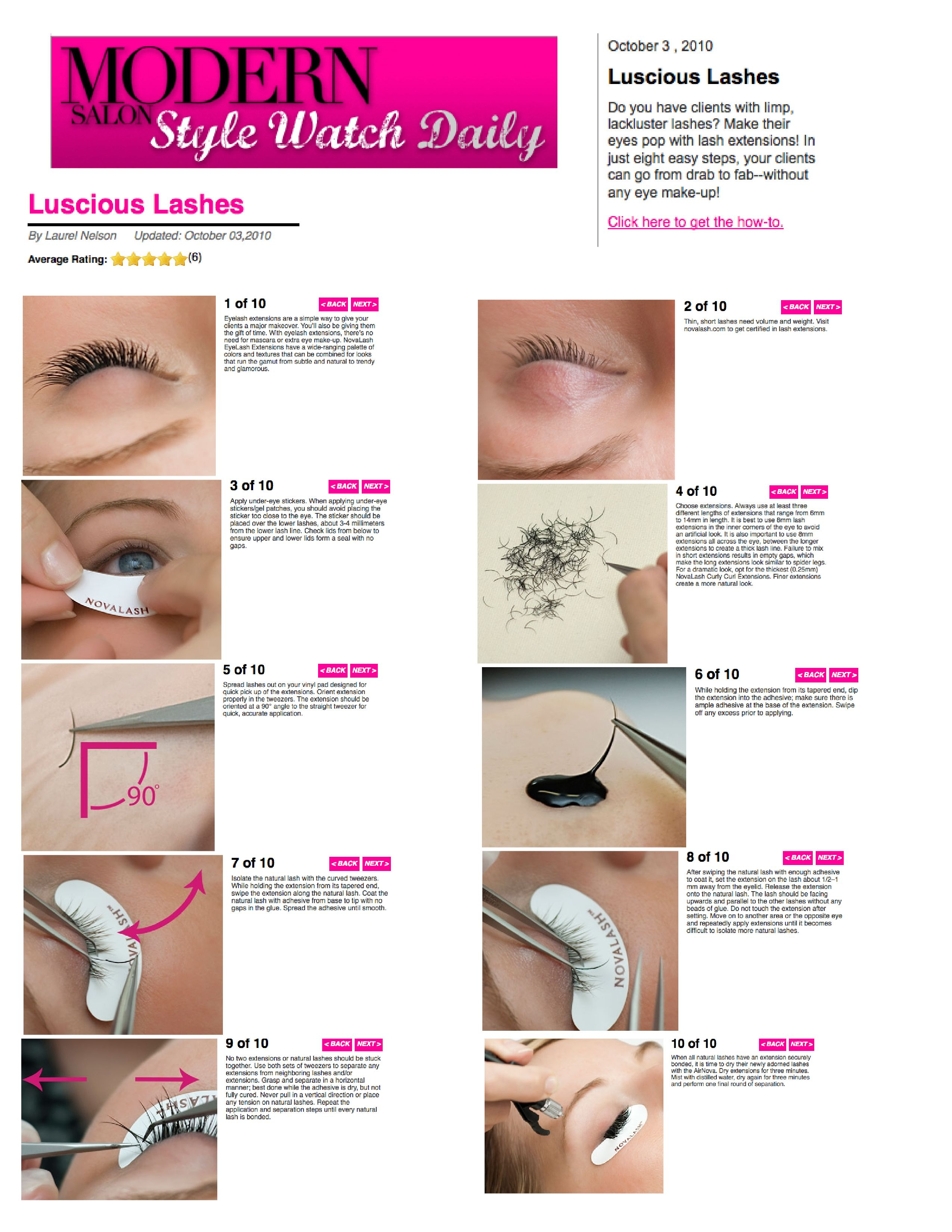 e5e538b9268 The NovaLash Eyelash Extension Application - Step By Step | In the ...