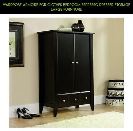 Wardrobe Armoire For Clothes Bedroom Espresso Dresser Storage Large  Furniture #shopping #fpv #storage