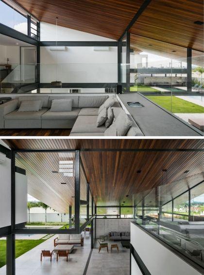 La toiture monopente de CR house magnifie son architecture | Nouvelles maisons, Façade maison et ...