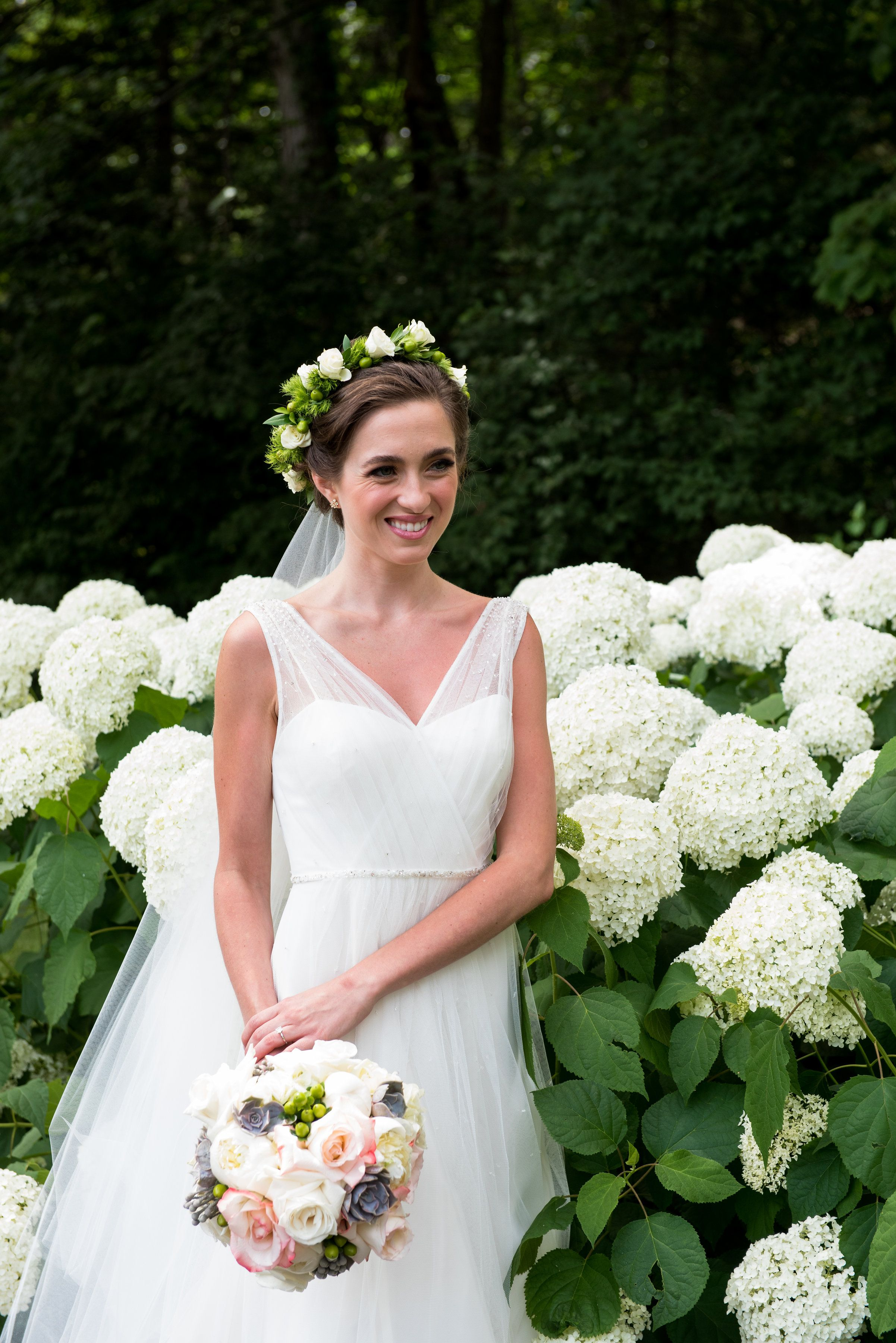 Beautiful bride in Jenny Yoo Magnolia dress.