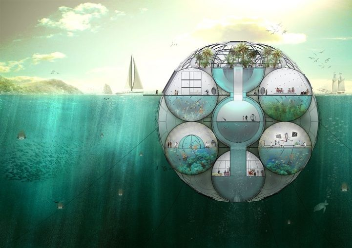 Floating Biodome Absorbs Carbon Dioxide, Emits Oxygen. #Sustainability #Oxygen
