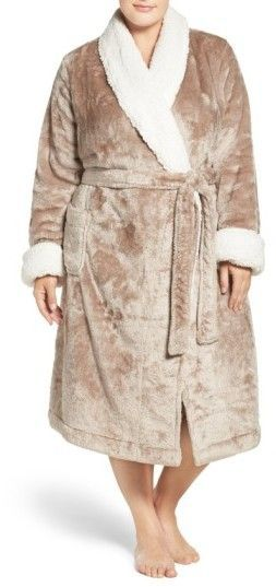 805eb32be Plus Size Women s Nordstrom Lingerie Frosted Plush Robe