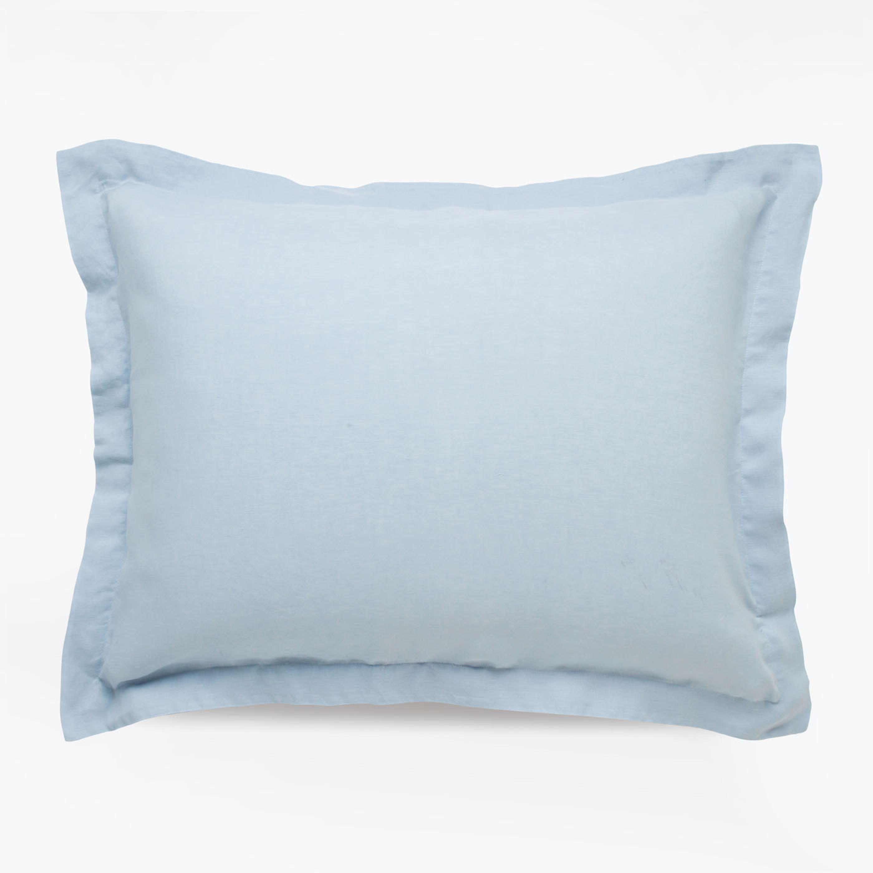 Linen Powder Blue Sham Standard Set of 2