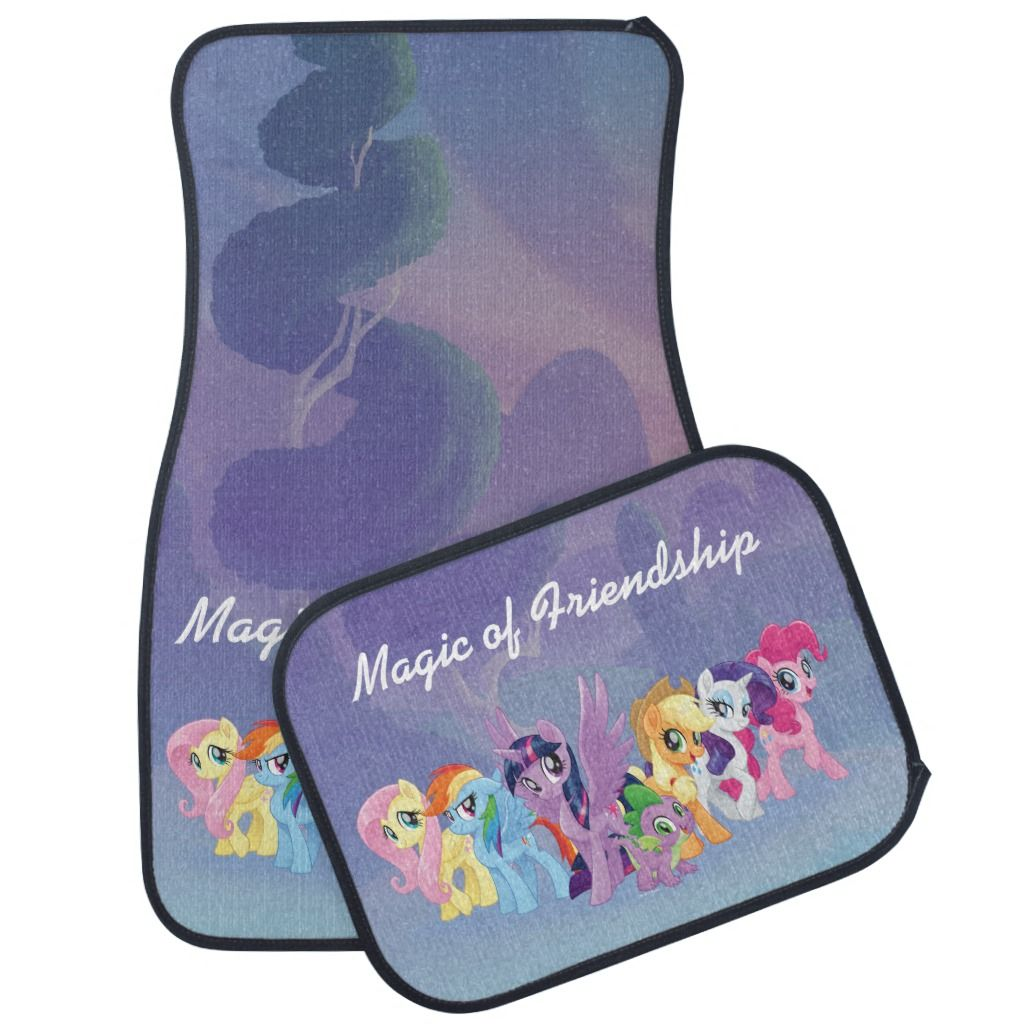My Little Pony Mane Six In Equestria Car Mat In 2019 My Little