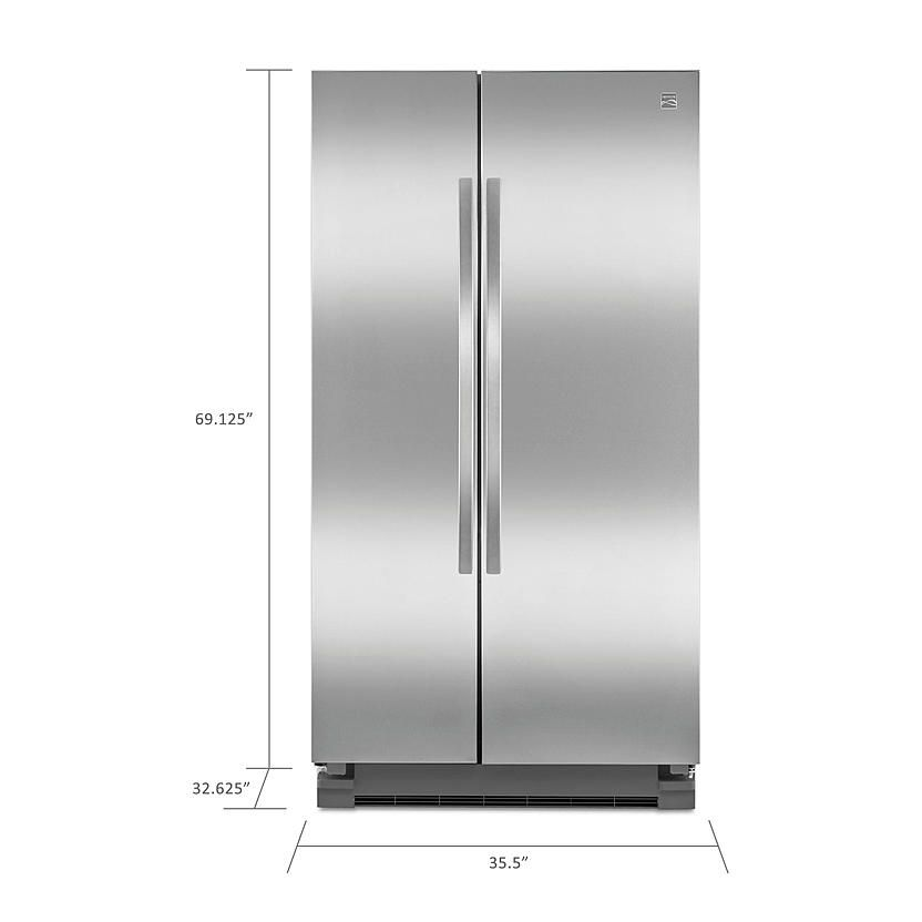 Kenmore 25 cu. ft. Side-by-Side Refrigerator - Stainless Steel 1