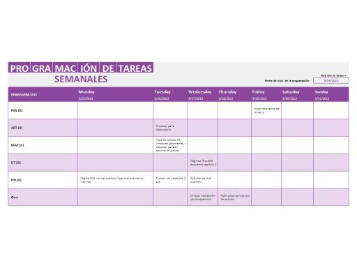 Lista De Tareas Semanales  Action Day Planner  To Do