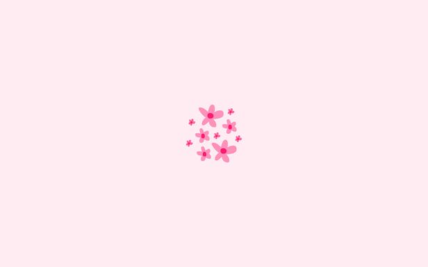 Some Flowers By Milena Fernandes Pink Flowers Wallpaper Cute Laptop Wallpaper Minimalist Desktop Wallpaper