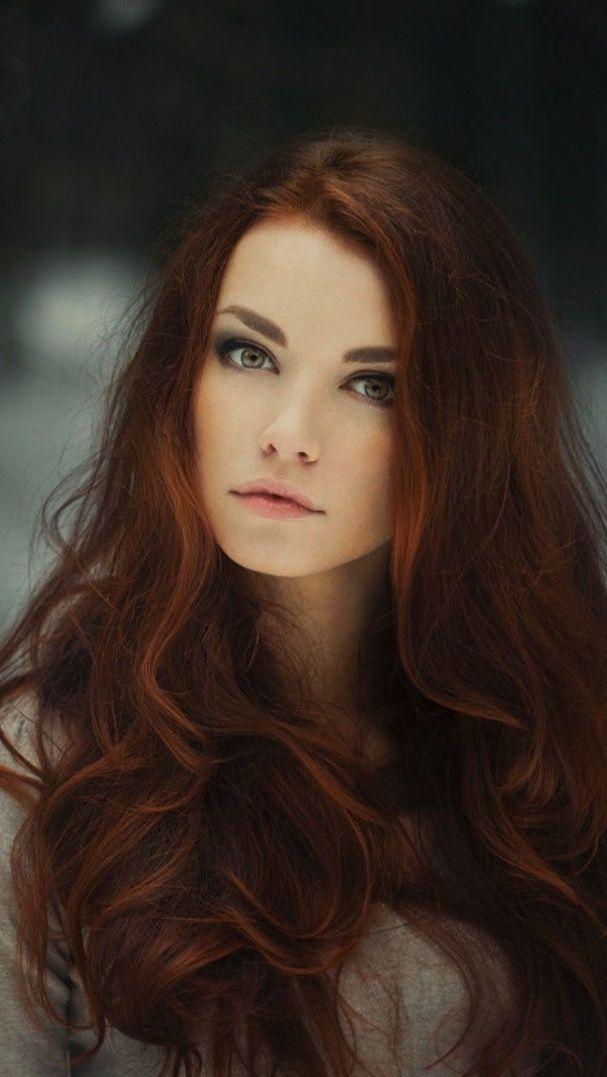 Couleur de cheveux reflet roux