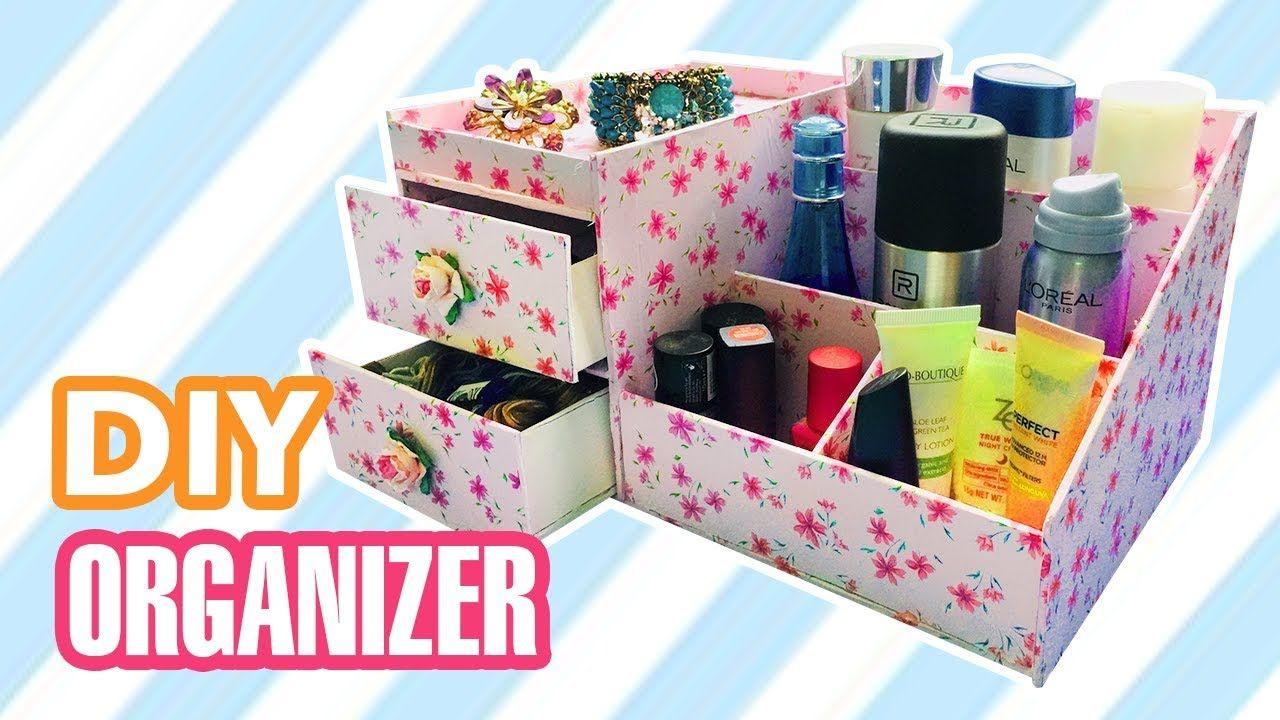 Diy Desk Organizer Diy Makeup Jewelry Organizer Box Desk