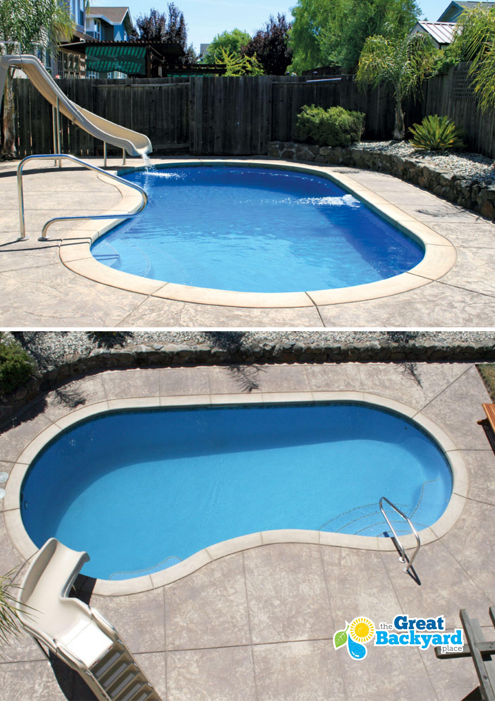 Medium Sized Columbia Kidney Fiberglass Pool By Trilogy Swimming