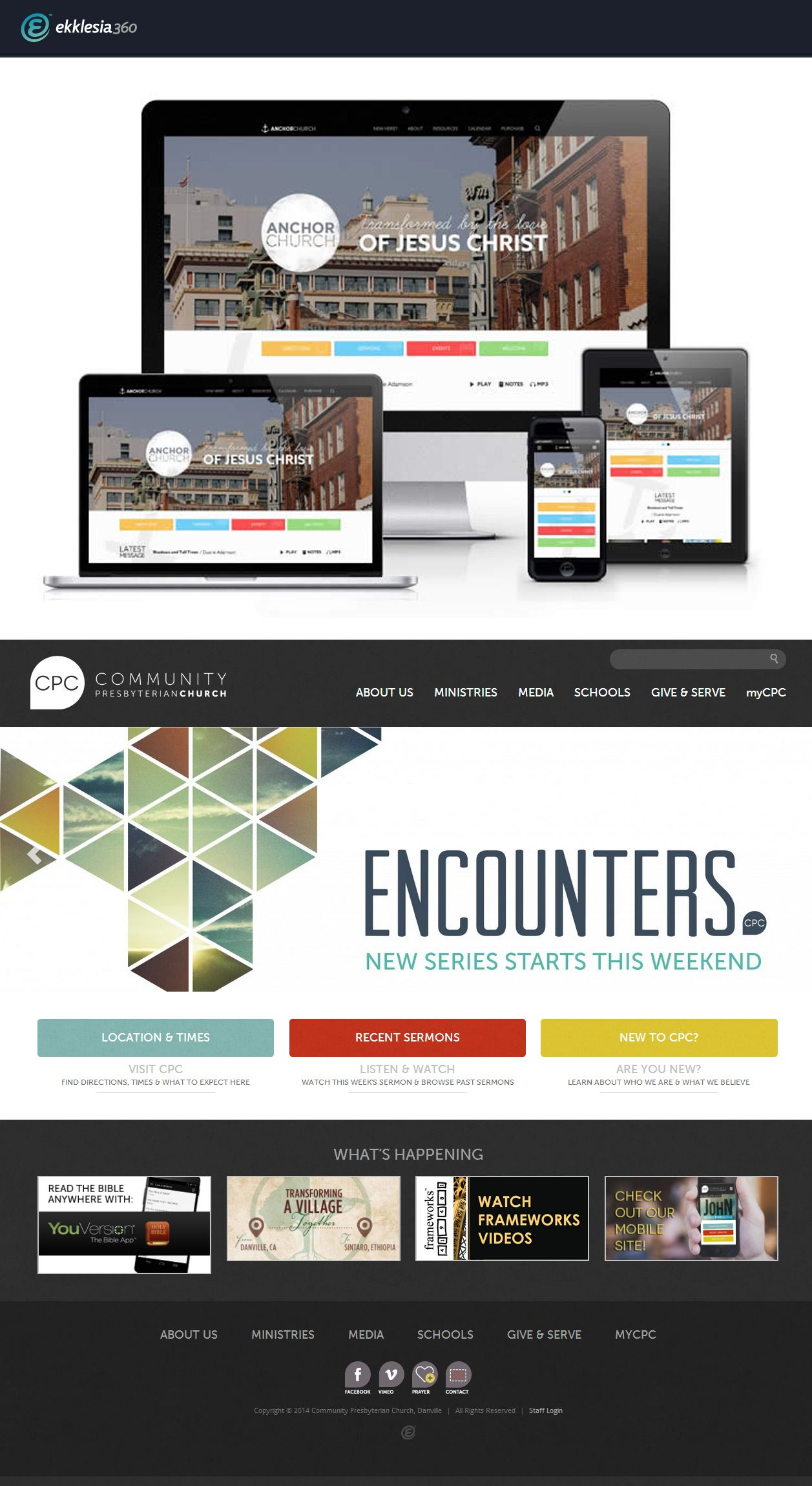 Responsive Church Website for CPC Danville on the Ekklesia 360 CMS ...