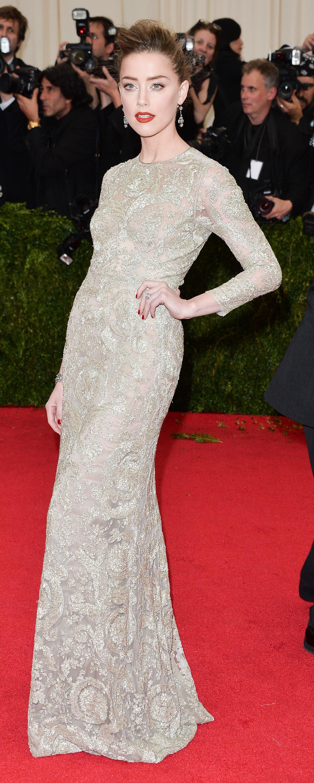 Proof That Amber Heard Was Born To Rock A Wedding Dress Fashion