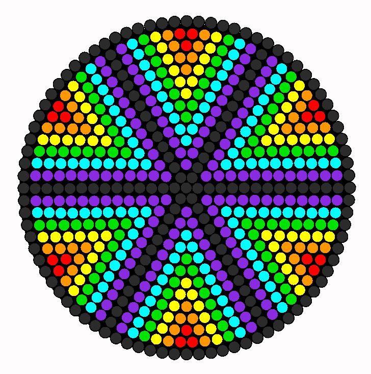 The Wheel Of Colors Perler Bead
