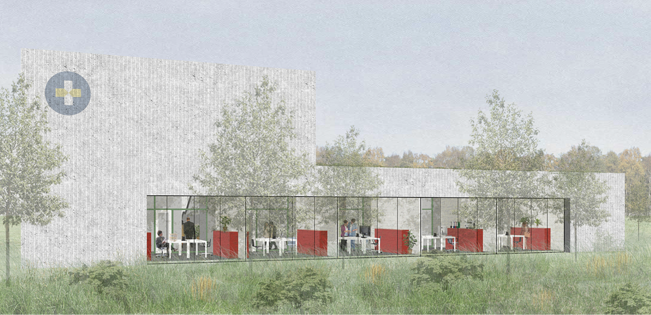 Architecten Achtergael - WIT-GELE KRUIS IEPER-POPERINGE