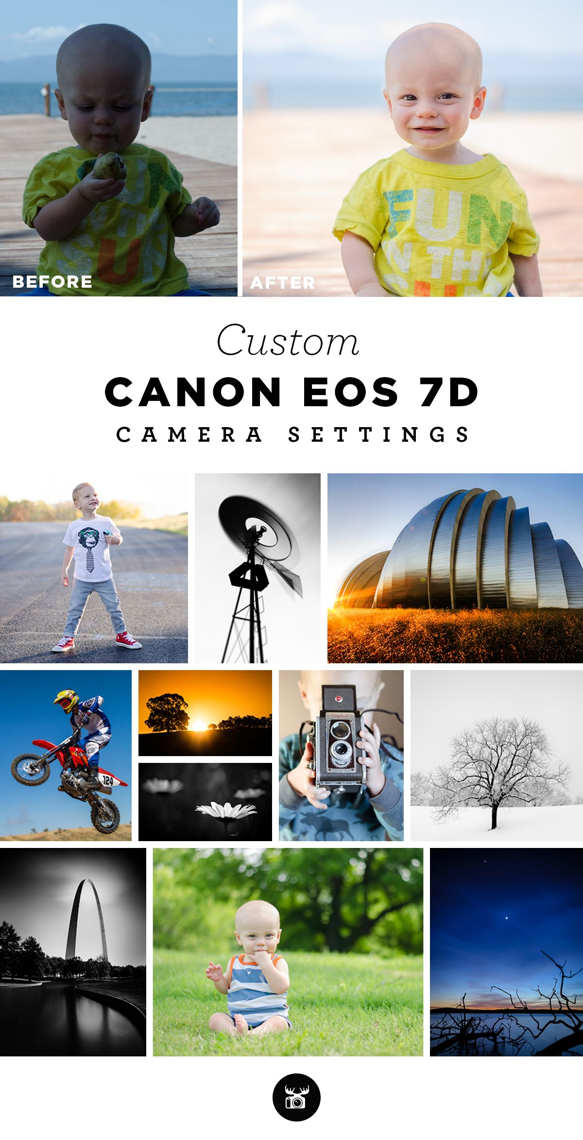 Custom camera settings for the Canon EOS 7D to help you take
