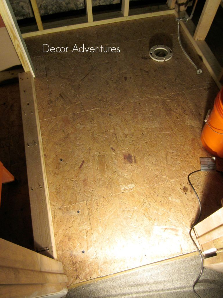 Working with DRIcore Subfloor in a Basement Mobile home