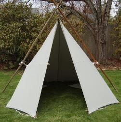 Basic drawing and steps for making a canvas tarp tent (want