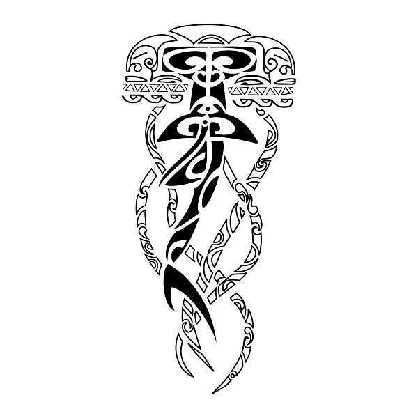 Polynesian medusa tattoos index of flash maori large tatoo maori pinterest m duse - Tatouage symbole force mentale ...
