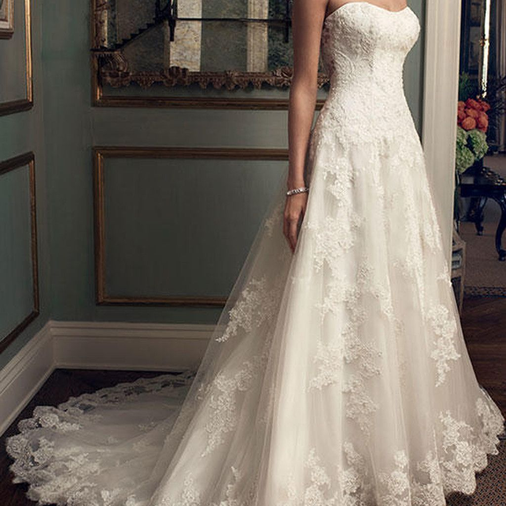 Wedding dresses springfield mo  Sweetheart Long Aline White Lace Gorgeous High Quality Wedding