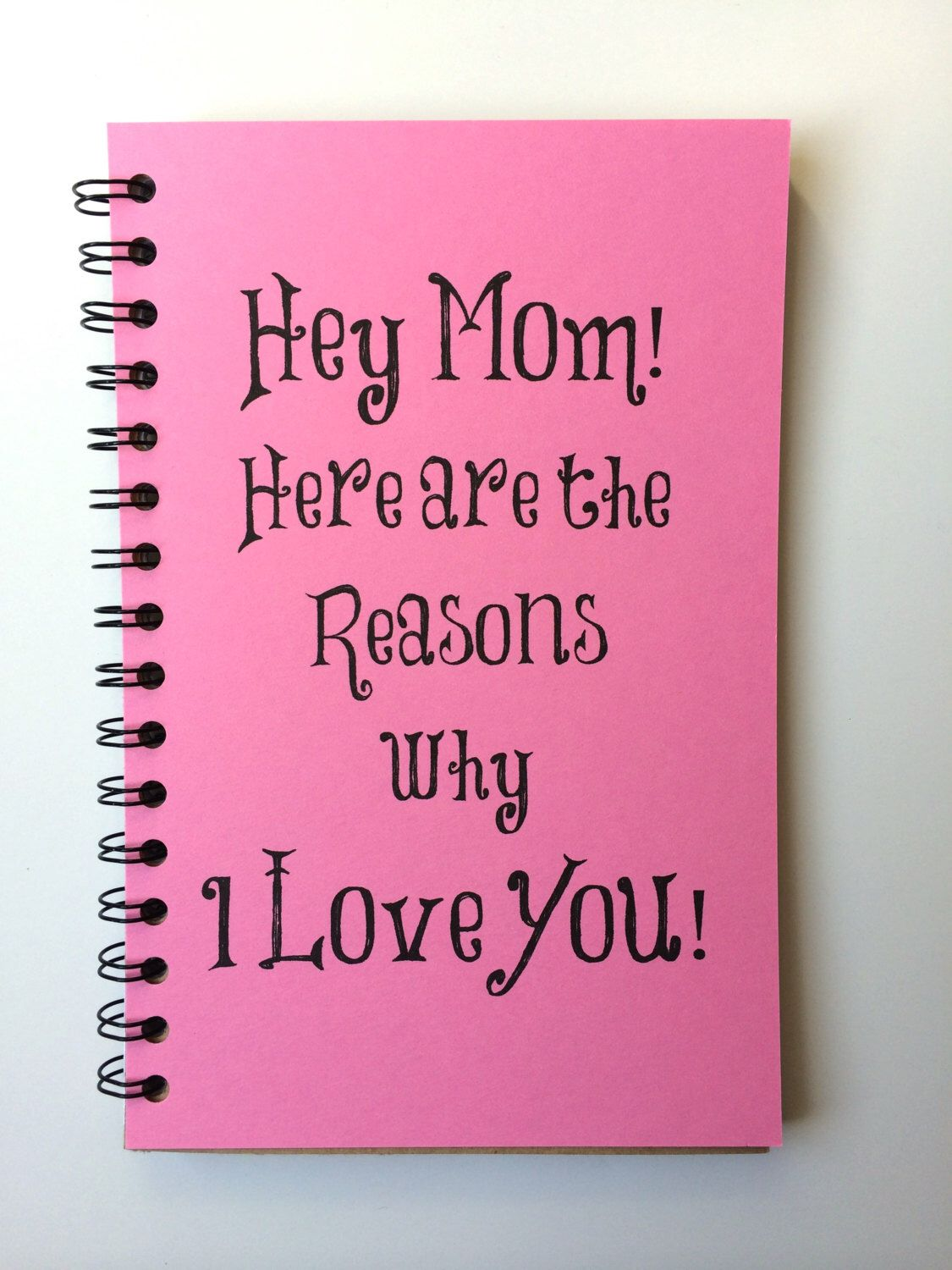 Mothers Day Gift, Notebook, Gift, From Daughter, From Son