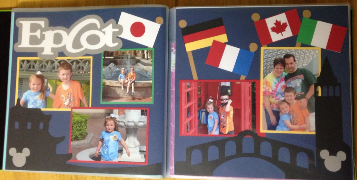 """Epcot kit from """"Out on a limb scrapbooking"""" pages from our October 2014 trip."""
