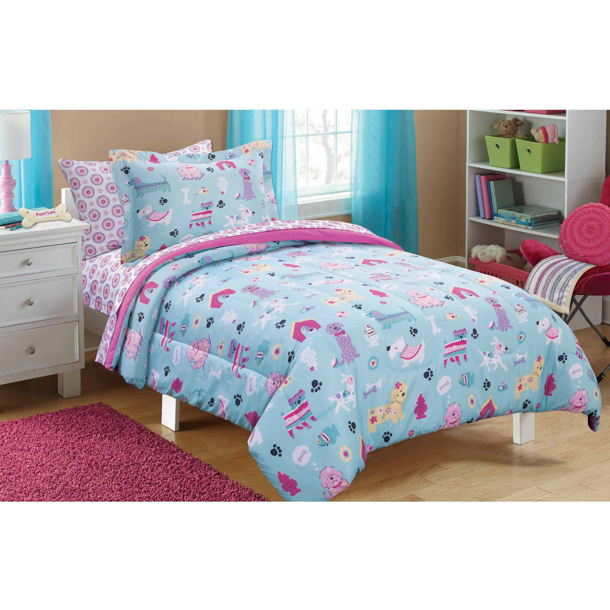 zone pink sheet in printed shipping today penelope poodle free with kids a overstock set bag bedding product bath the mi bed