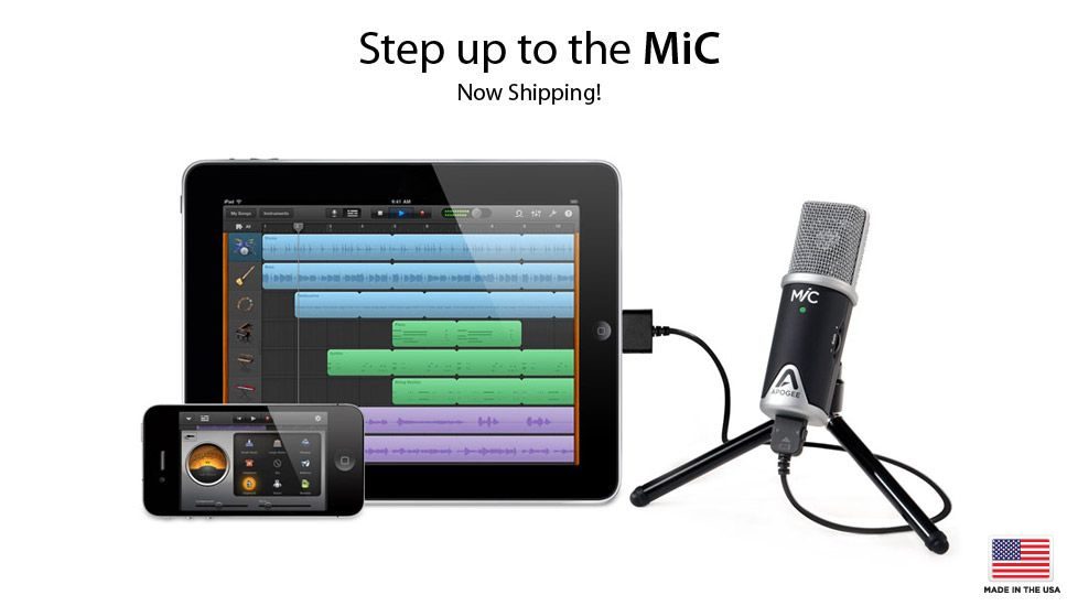 Apogee MiC, Studio quality microphone for iPad, iPhone and