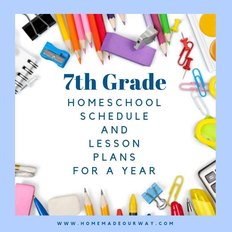 7th Grade Homeschool Schedule And Lesson Plan Homeschool