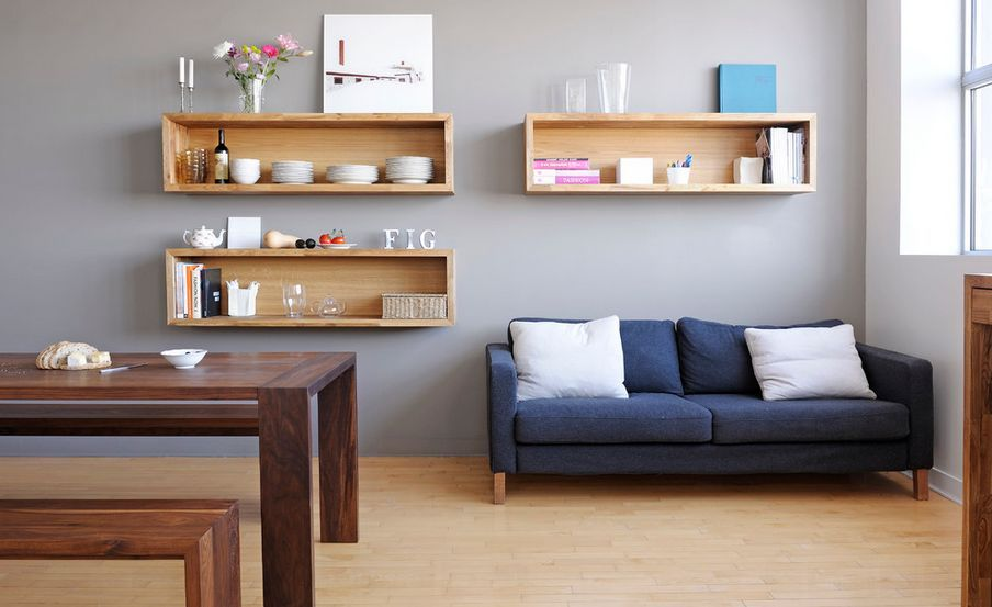 Wall Mounted Box Shelves A Trendy Variation On Open Shelves Geometric Shelves Living Room Shelves Floating Shelves Living Room