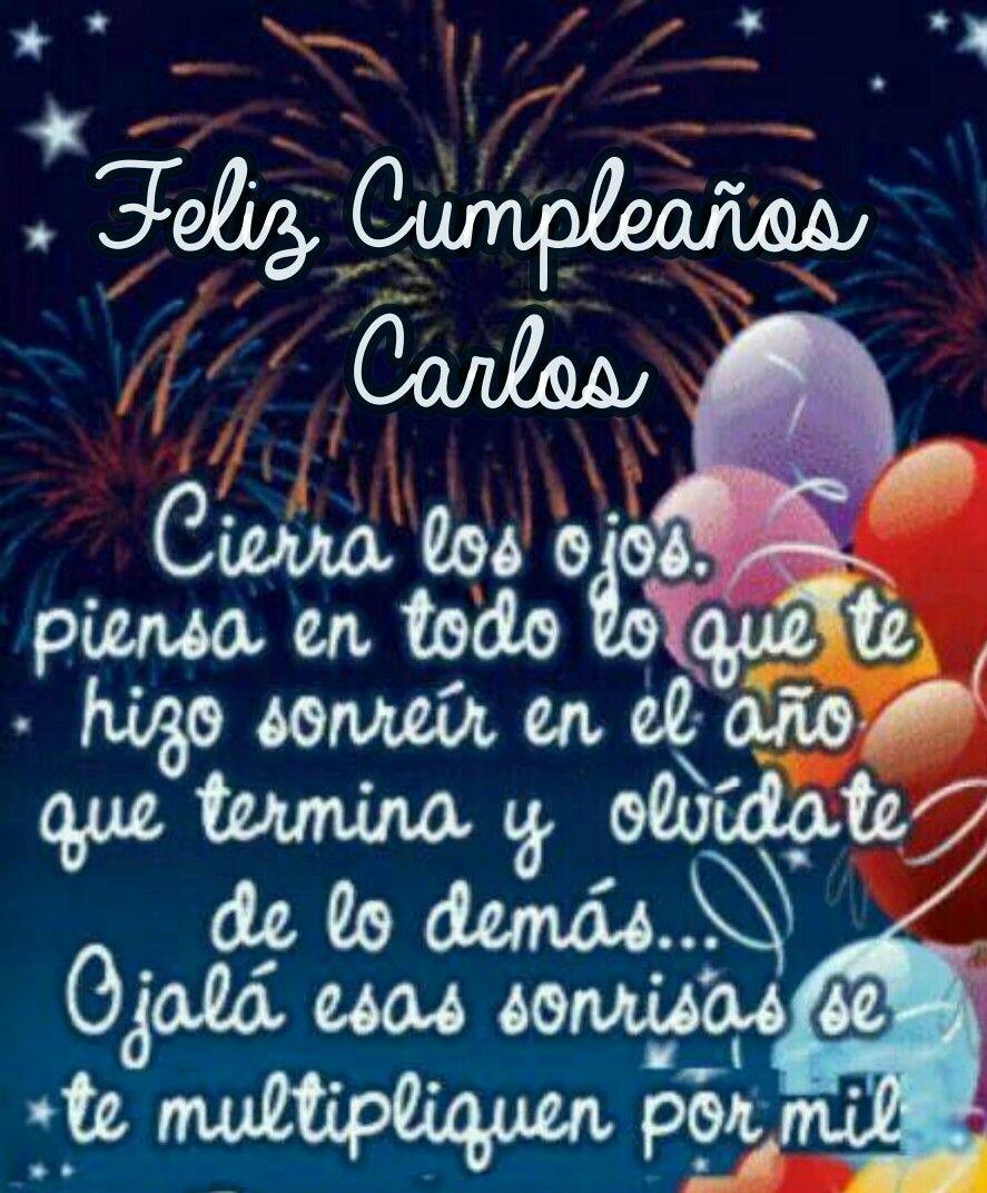 Feliz Cumpleaños Carlos