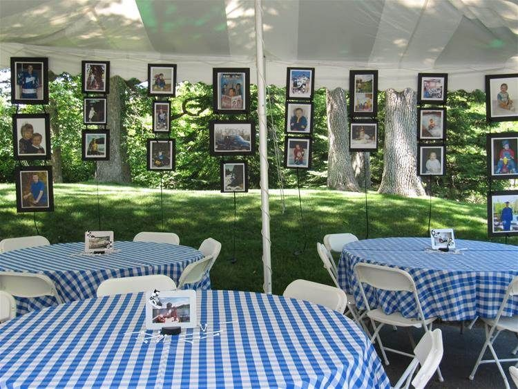 Image result for graduation party picture display ideas for Open house photos