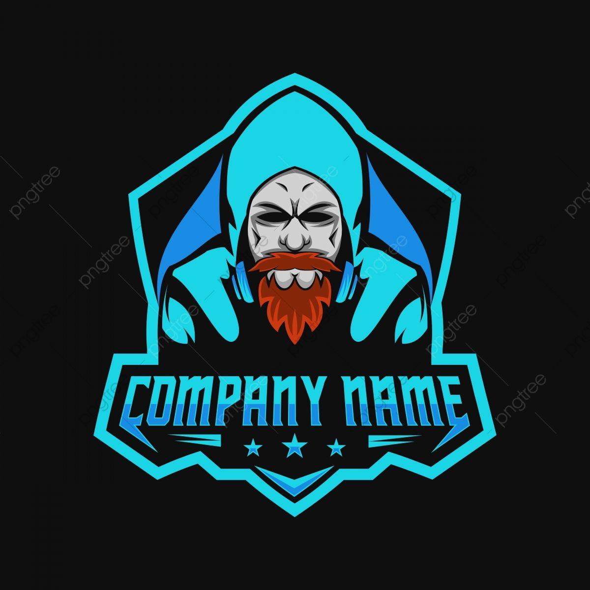 Beard Man Gamers Gaming E Sport Logo Amazing Design For Your